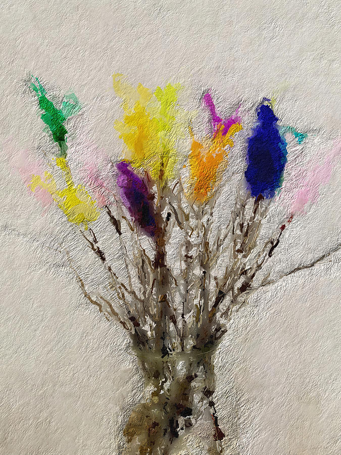 Swedish Painting - Easter Tree- Abstract Art By Linda Woods by Linda Woods