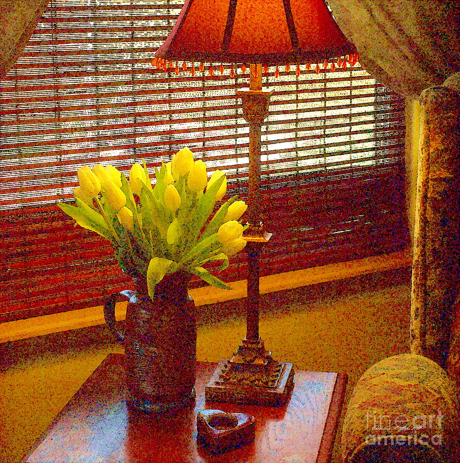 Flowers Photograph - Easter Tulips Still Life - Paintograph by Christine S Zipps