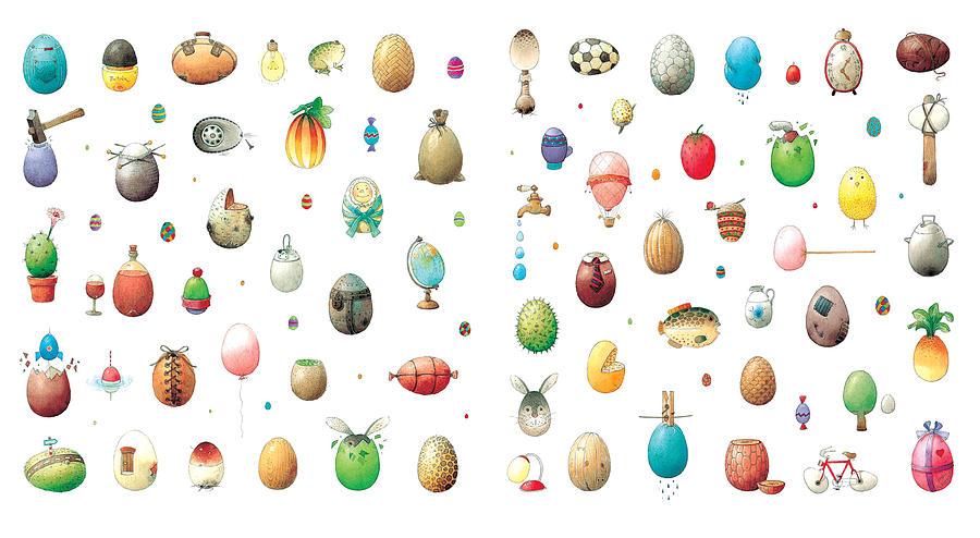 Eggs Easter Painting - Eastereggs by Kestutis Kasparavicius