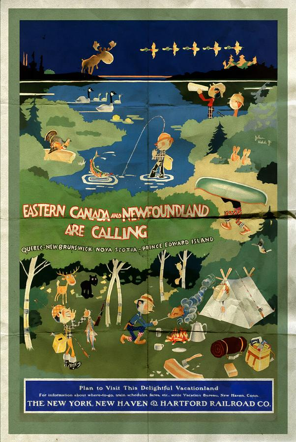 Eastern Canada and Newfoundland - Folded by Vintage Advertising Posters