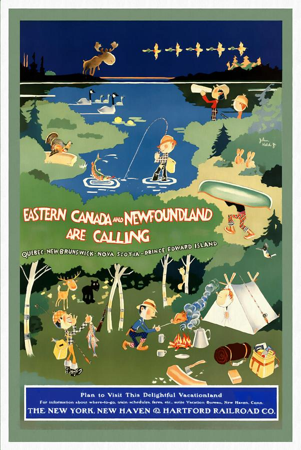 Eastern Canada and Newfoundland - Restored by Vintage Advertising Posters