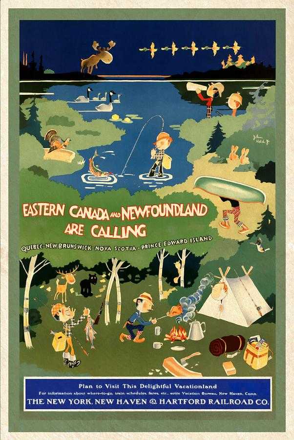 Eastern Canada and Newfoundland - Vintagelized by Vintage Advertising Posters