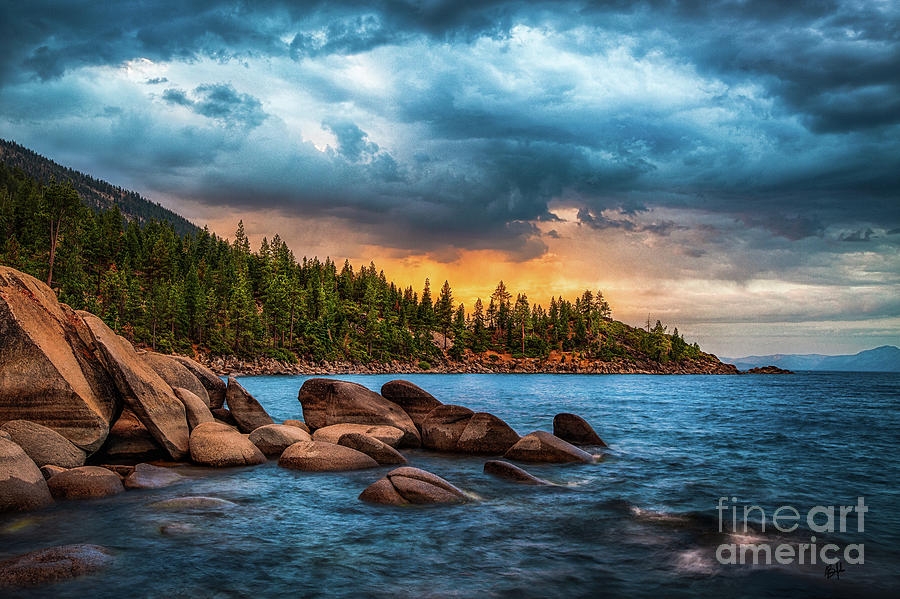Lake Tahoe Photograph - Eastern Glow at Sunset by Anthony Michael Bonafede