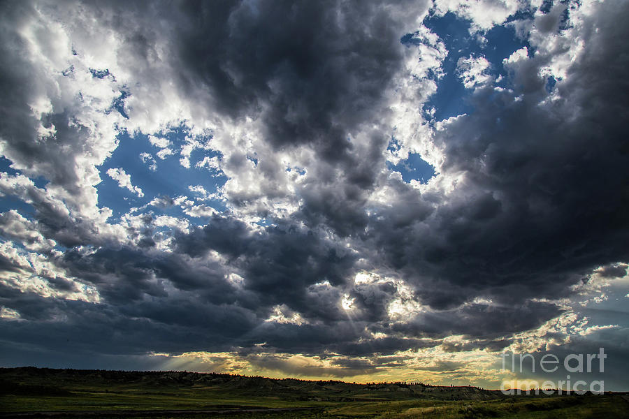 Landscape Photograph - Eastern Montana Sky by Shevin Childers