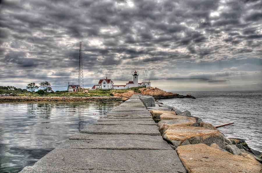 Eastern Point Lighthouse Photograph - Eastern Point Lighthouse by Liz Mackney