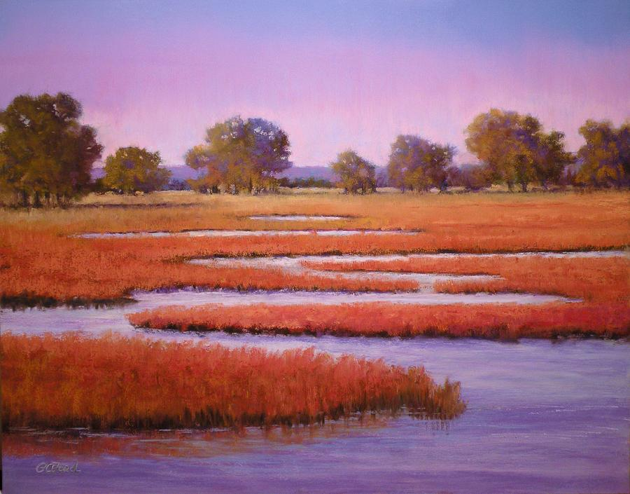 Pastel Painting - Eastern Shore Marsh by Paula Ann Ford