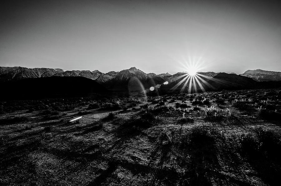 California Photograph - Eastern Sierra Sunset In Monochrome by Margaret Pitcher