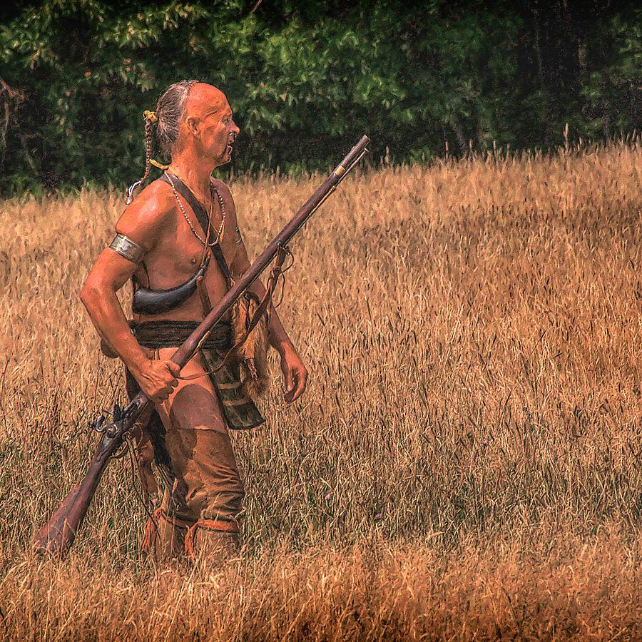 War Digital Art - Eastern Woodlands Indian Scout 1 by Randy Steele