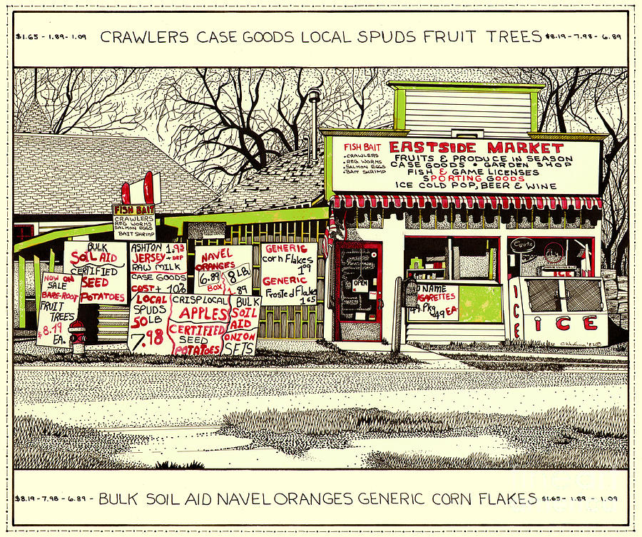 Country Market Painting - Eastside Market by Chholing Taha