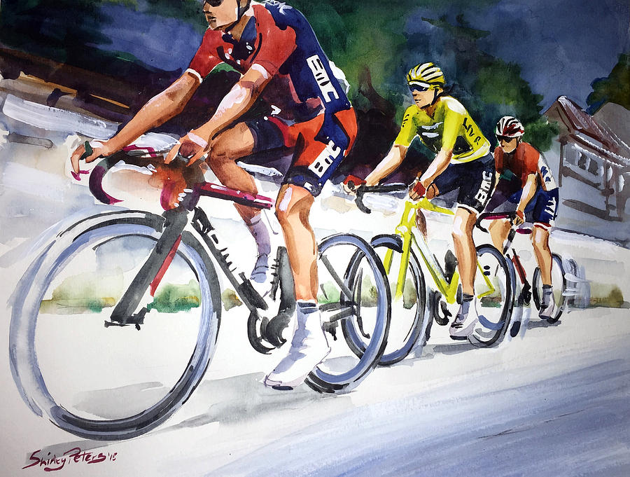 Wheels Painting - Easy Start To Stage 2 by Shirley Peters