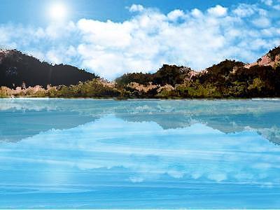 Marine Digital Art - Easy Water by Aline Pottier  Gama Duarte