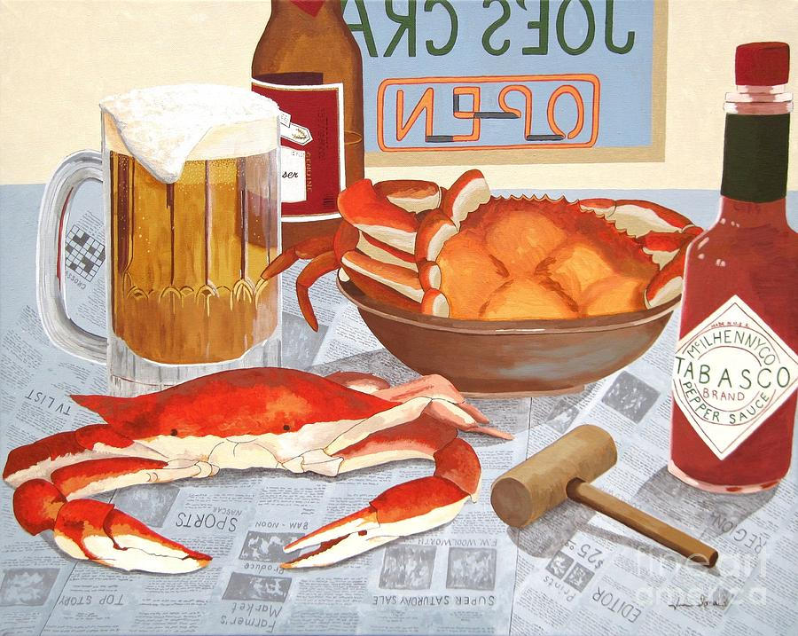 Beer Painting - Eat At Joes by Jennifer  Donald