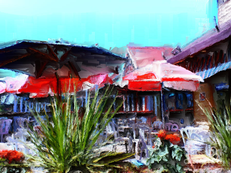 Portland Oregon Painting - Eat At Joes by Methune Hively