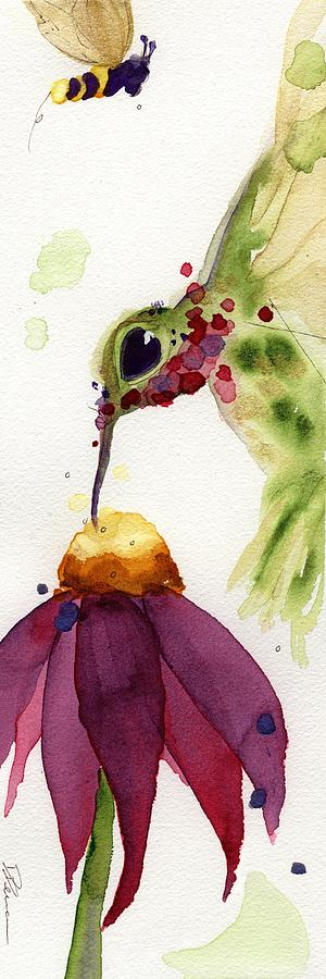 Hummingbird Painting - Eat Fresh II by Dawn Derman