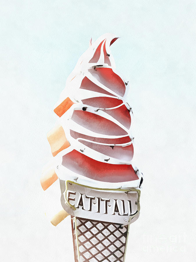 Ice Digital Art - Eat It All Soft Serve Ice Cream by Edward Fielding