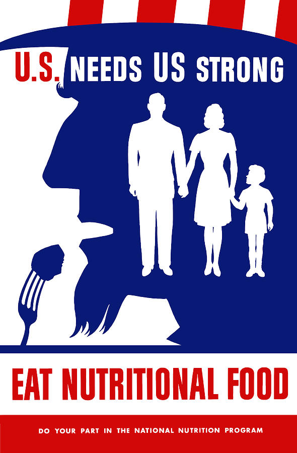 Uncle Sam Mixed Media - Uncle Sam - Eat Nutritional Food by War Is Hell Store