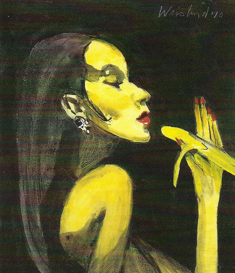 Realism Painting - Eating a Banana  by Harry  Weisburd