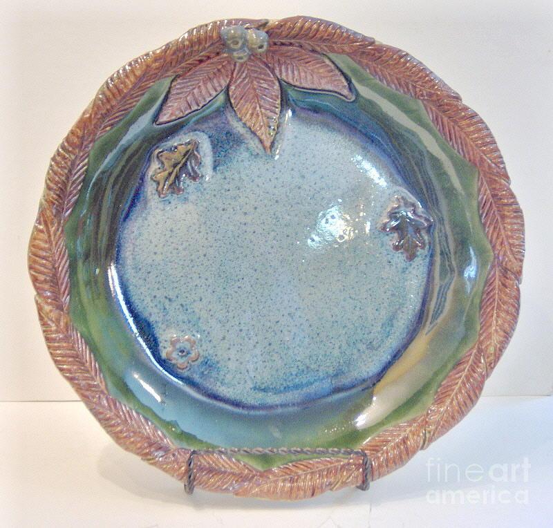 Dish Ceramic Art - Eau Calme- Functional Stoneware - Bird Bath by Anastasia Verpaelst