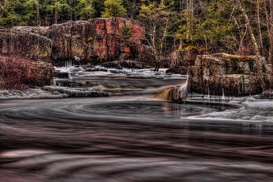 Eau Claire Dells Icy Smoothness by Dale Kauzlaric