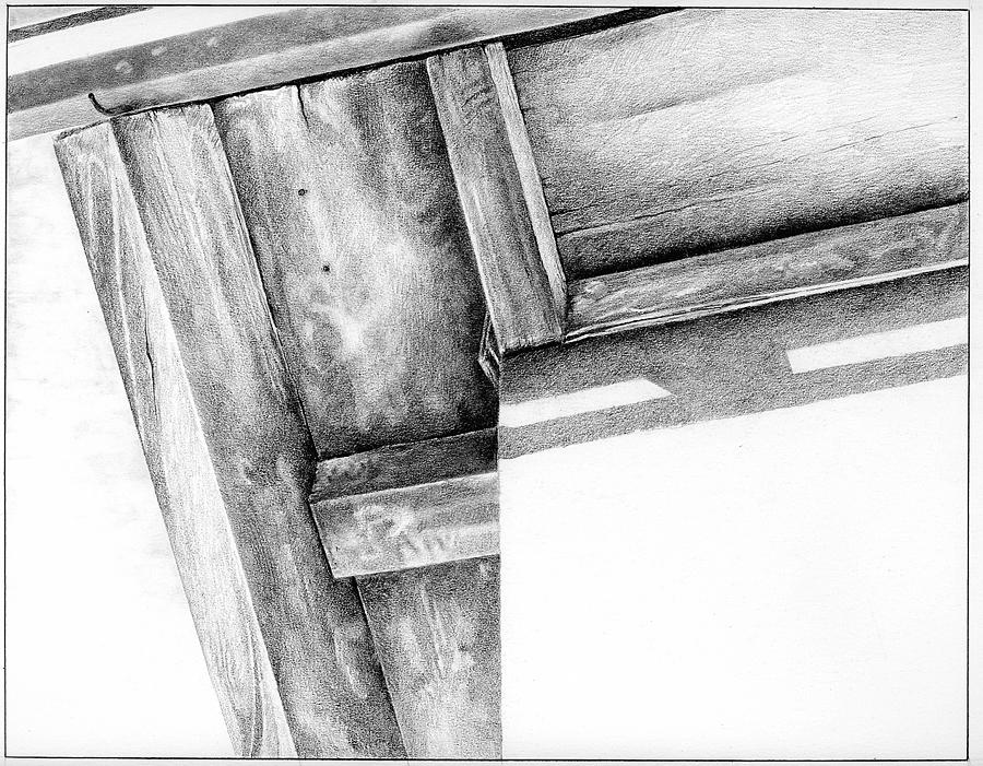 Shadow Drawing - Eave And Edge by Gary Ciancio