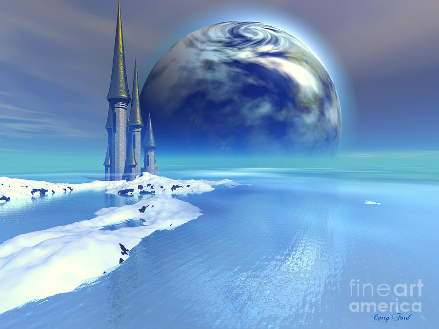 Castle Painting - Ebb And Flow by Corey Ford