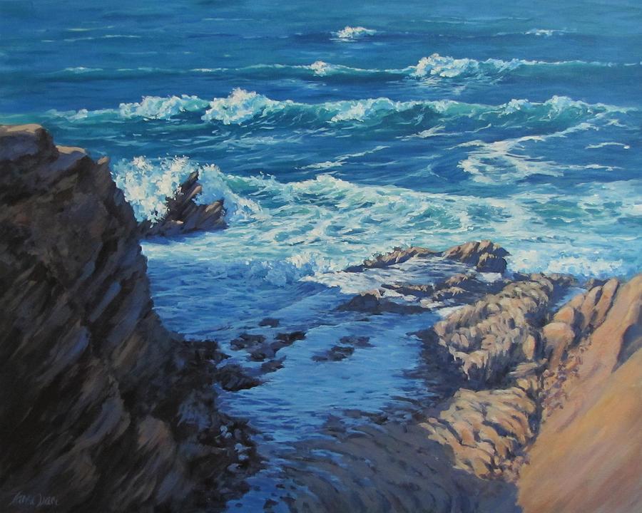 Sea Painting - Ebb And Flow by Karen Ilari