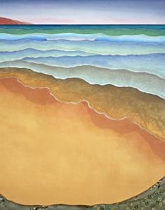 Seascape Mixed Media - Ebb And Flow by Leslie Nguyen Temple