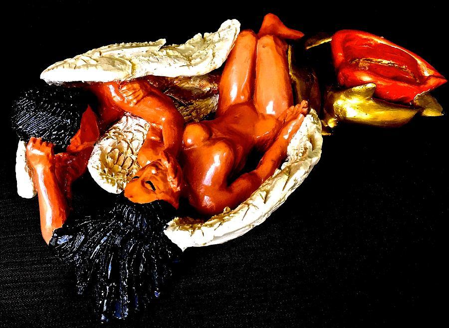 Angels Ceramic Art - Ebony Angels by Frederick Dost