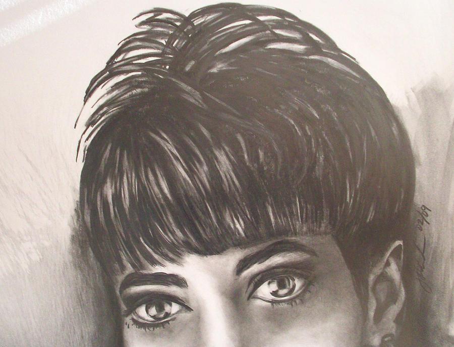 Ebony Eyes Drawing by Johnnie Anderson