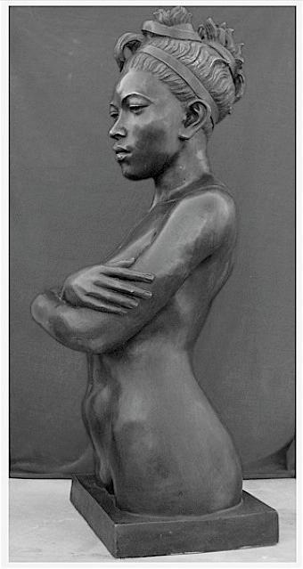 Girls Sculpture - Ebony Venus by Curtis James