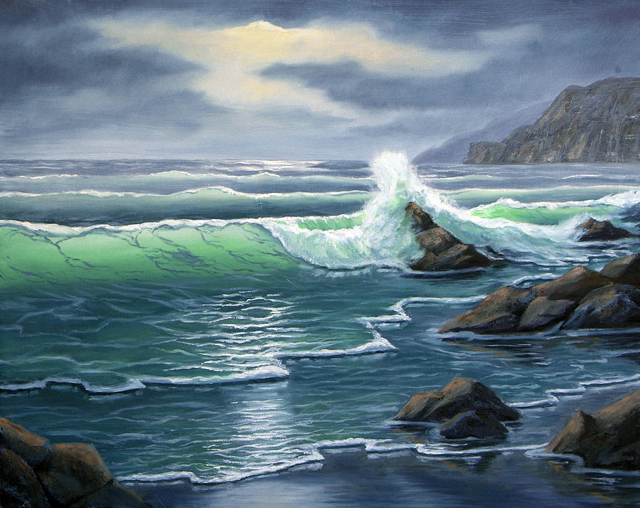 Seascapes Painting - Ebtide by Lorraine Foster