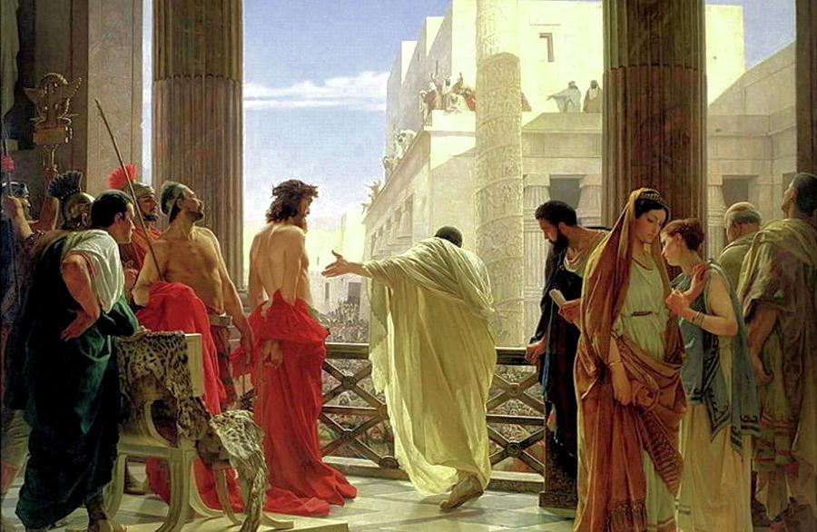 Behold The Man Painting - Ecce Homo by Antonio Ciseri