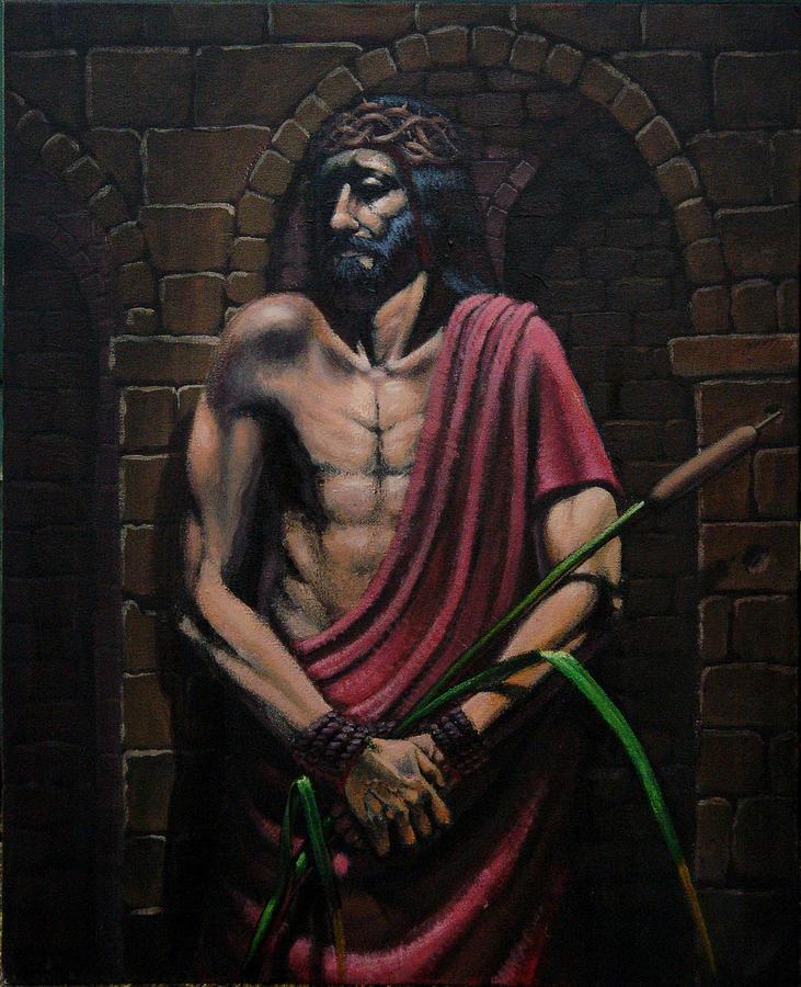 Religious Painting - Ecce Homo by Mariusz Loszakiewicz