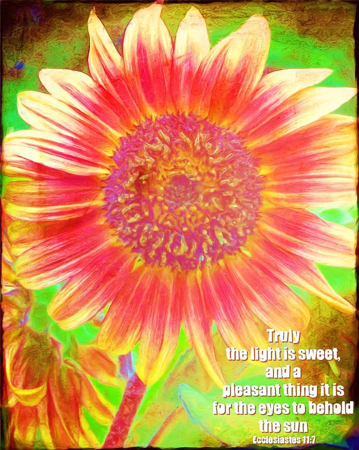 Jesus Digital Art - Ecclesiastes 11 7 by Michelle Greene Wheeler