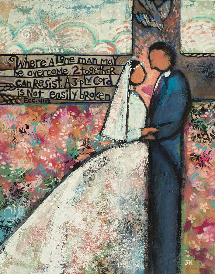 Ecclesiastes 4 12 Wedding Art Painting By Jen Norton