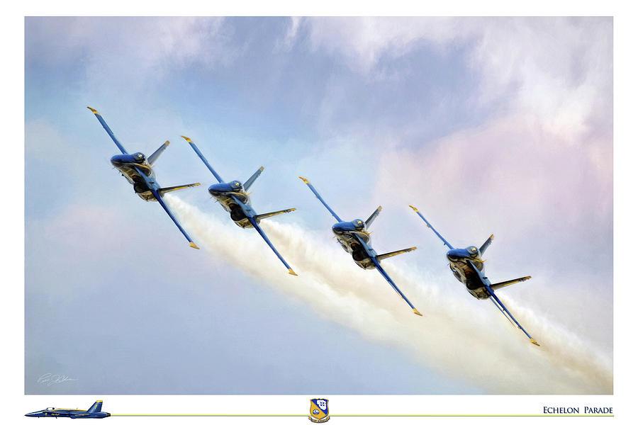 Aviation Digital Art - Echelon Parade by Peter Chilelli