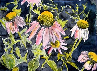 Echinacea Painting - Echinacea Coneflower 2 by Derek Mccrea