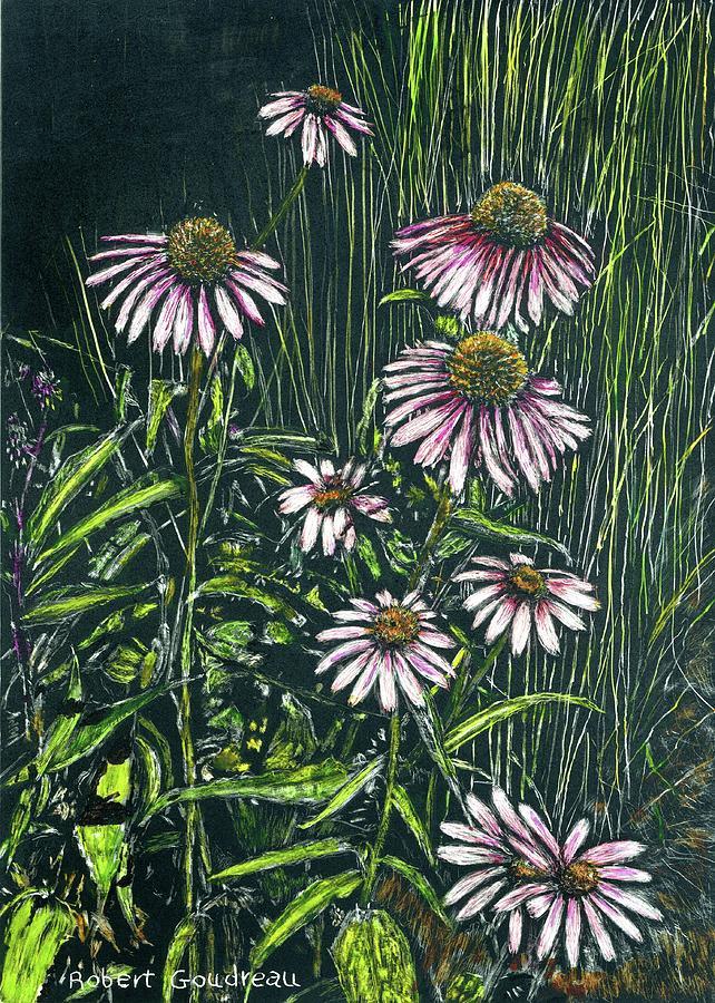 Echinacea Painting - Echinacea by Robert Goudreau