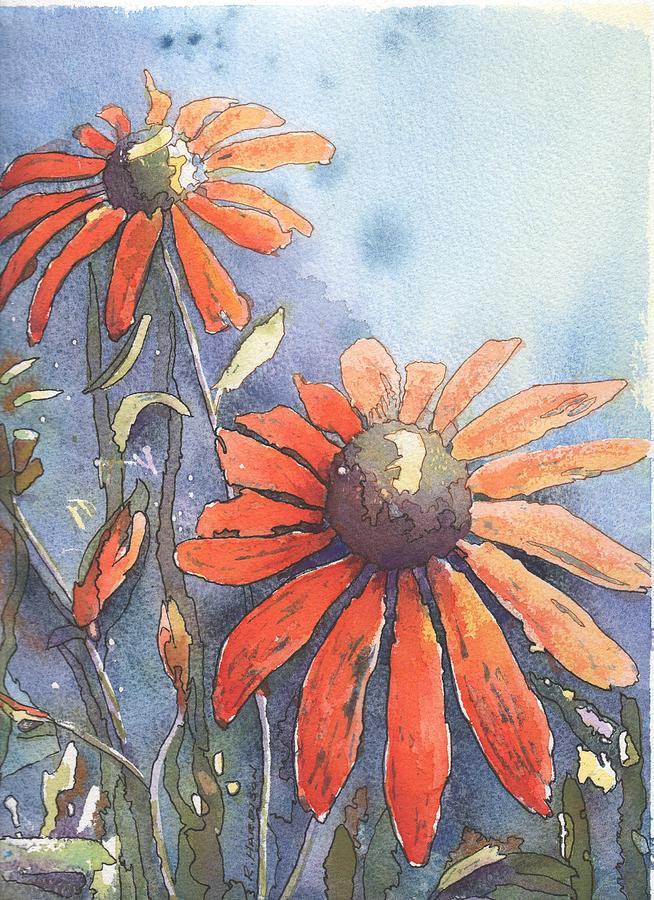 Echinacea Painting - Echinacea by Robynne Hardison