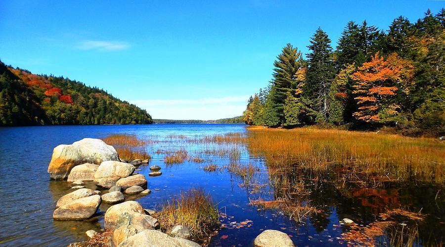 Echo Lake-acadia National Park Photograph