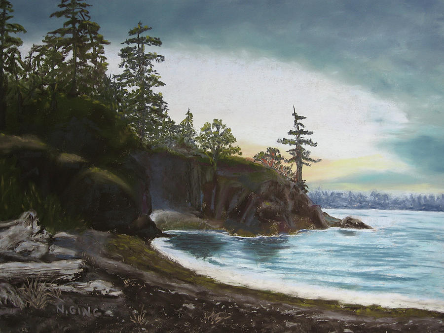 Seascape Painting - Echo Point II by Nancy Ging