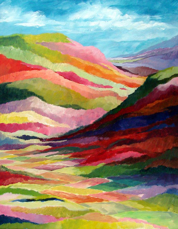 Abstract Painting - Echo Valley by David  Maynard