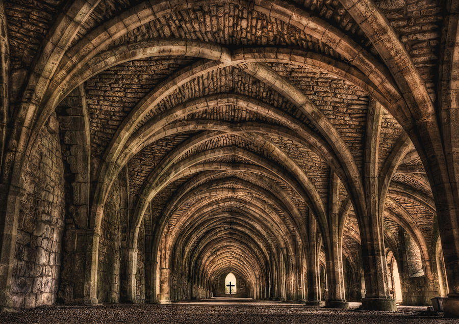 Fountains Abbey Photograph - Echoes From Ancient Dreams by Evelina Kremsdorf