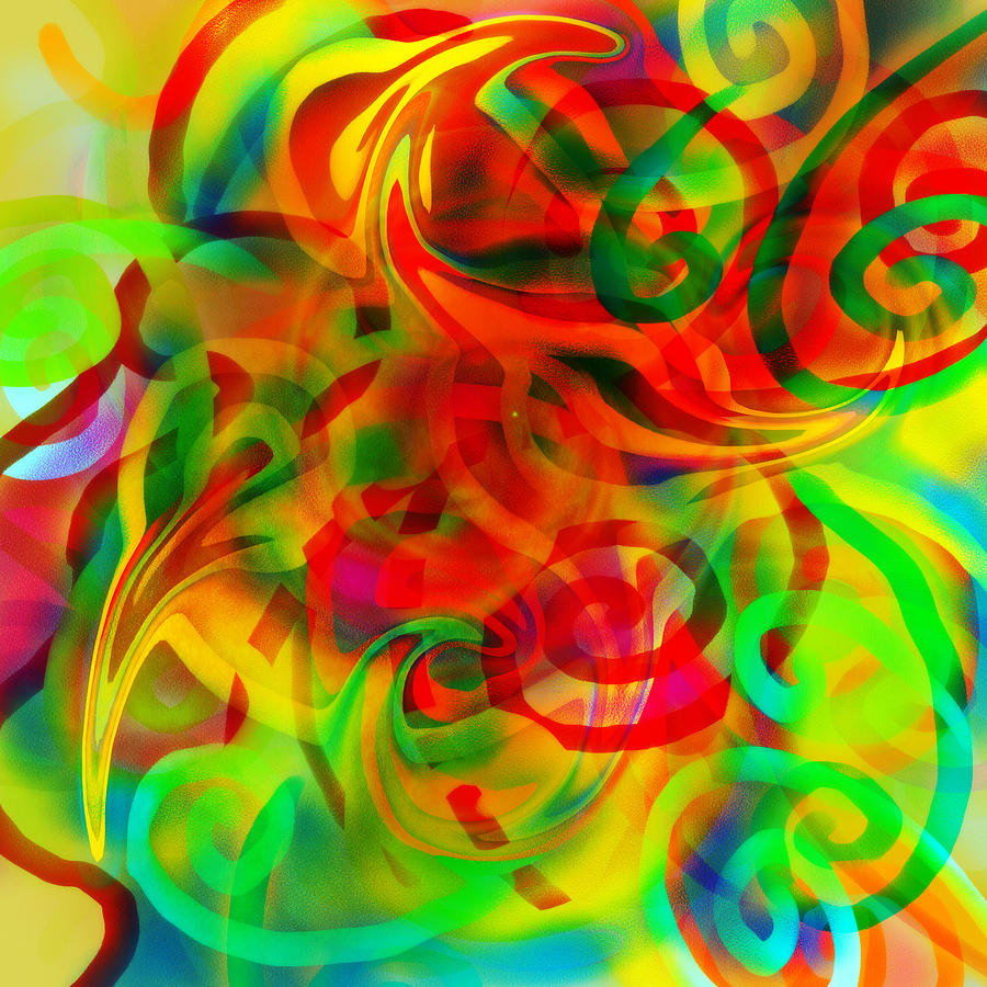 Abstract Digital Art - Echoes by Grant  Wilson