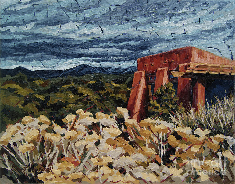 Santa Fe Painting - Echoes Of Tularosa, Museum Hill, Santa Fe, Nm by Erin Fickert-Rowland