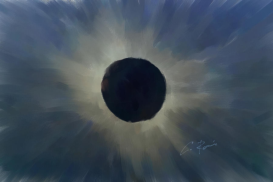Eclipse 2017 Hand Painted Version by Charlie Roman