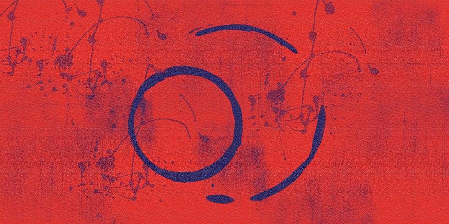 Red Painting - Eclipse II by Julie Niemela
