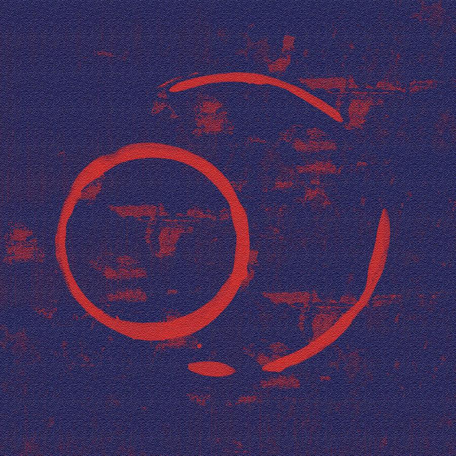 Red Painting - Eclipse by Julie Niemela