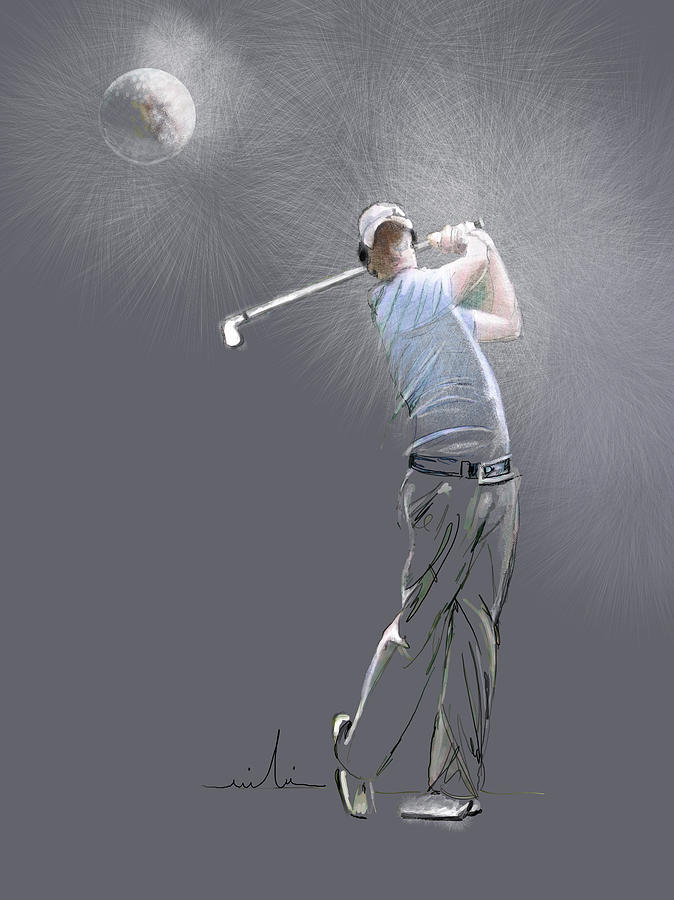 Golf Painting - Eclipse by Miki De Goodaboom