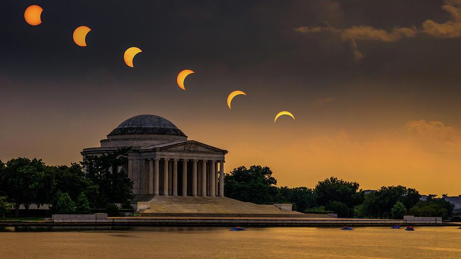 Eclipse Photograph - Eclipse Over Jefferson by Kristen Meister